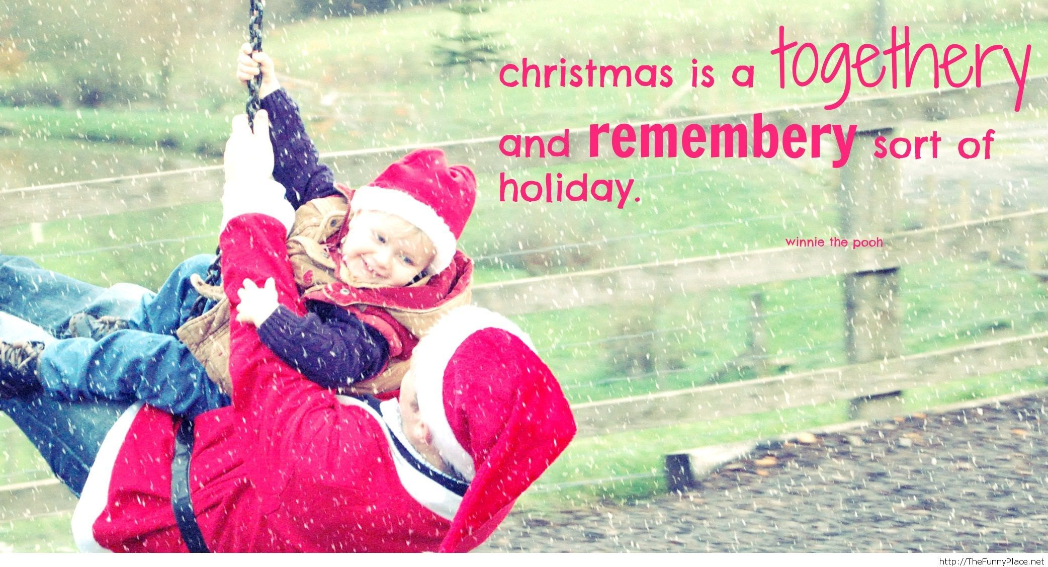 Christmas quote with image of a family