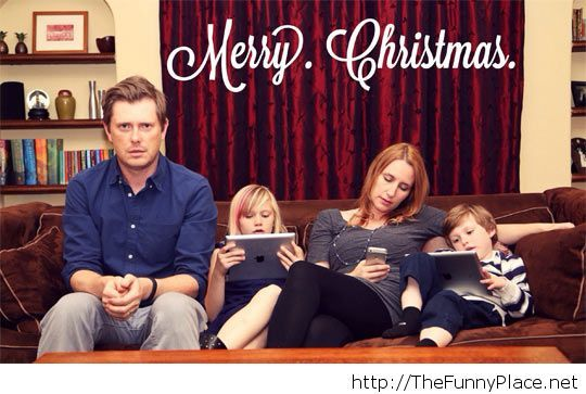 Christmas realistic family portrait