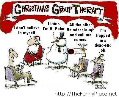 Christmas therapy funny