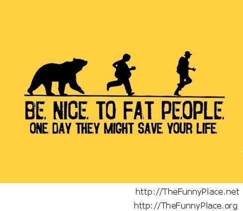 Fat people funny quote