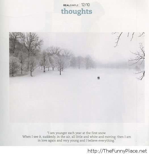 First snow thoughts