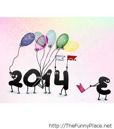 Funny 2014 new year greeting card