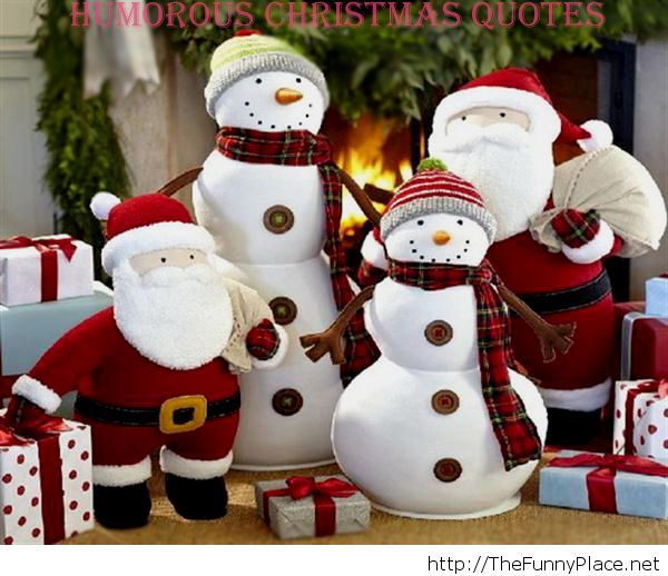 Funny Christmas quotes and sayings with thefunnyplace in category Christmas