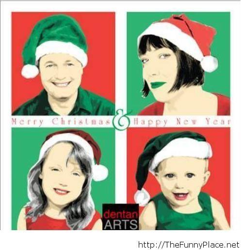 Funny christmas family card