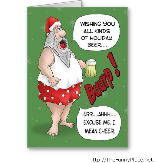 Funny christmas wishing santa claus