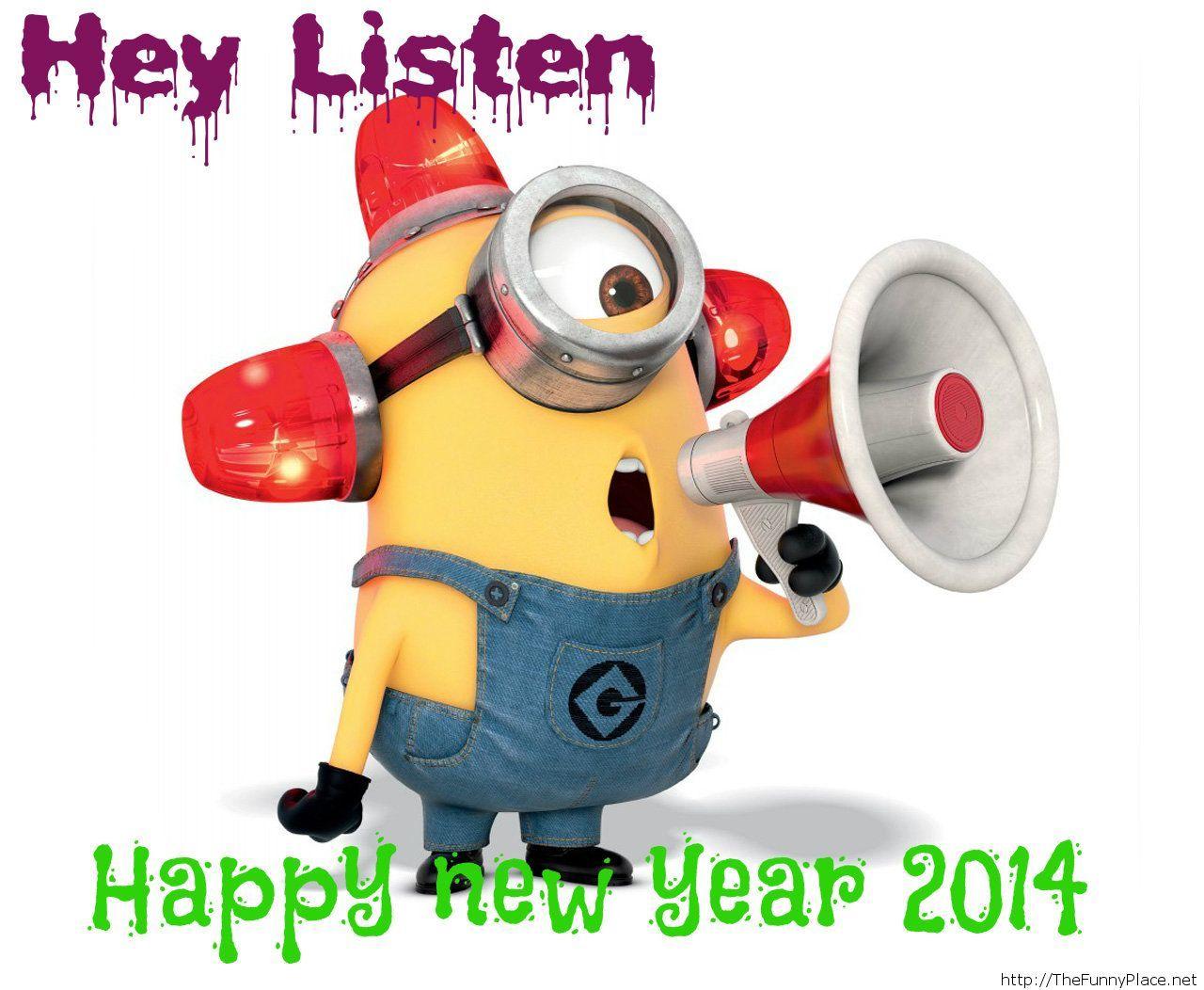 Funny minion happy new year 2014