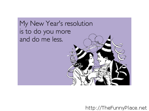 Funny new year resolution 2014 card