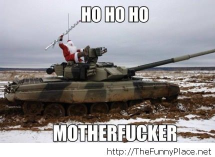Funny picture with Santa