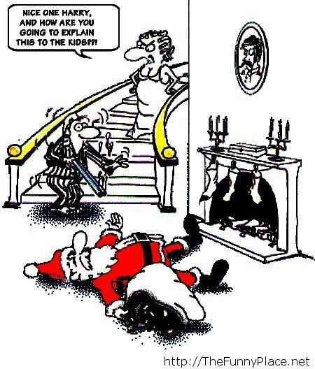 Funny santa comics
