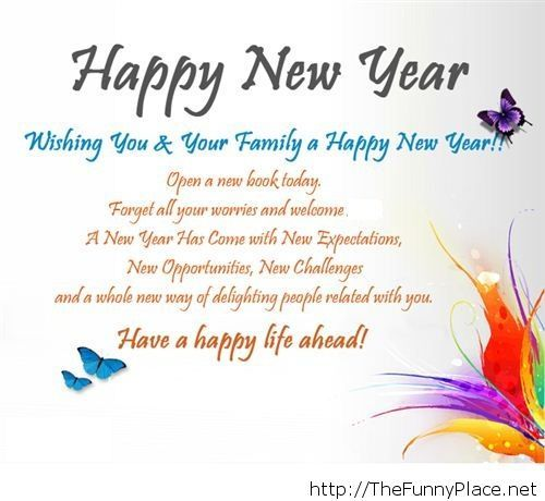 Funny sms new year 2014