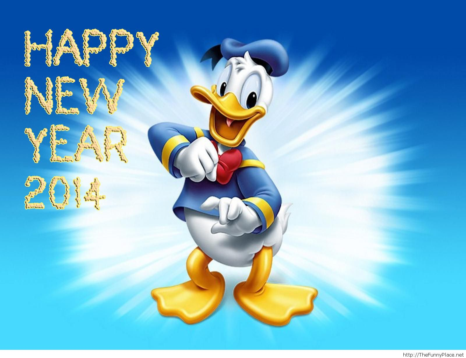 Happy new year 2014 cartoon wallpaper