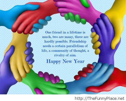 Happy new year 2014 friendship quote