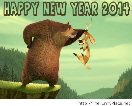 Happy new year 2014 funny cartoon hd