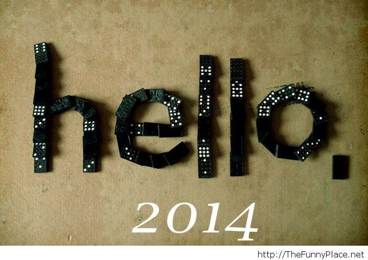Hello 2014 photo