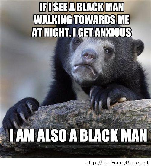 I am a black man meme