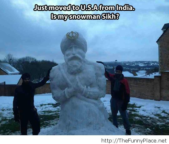 Indian funny snowman