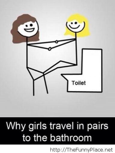 Ladies secret in bathroom