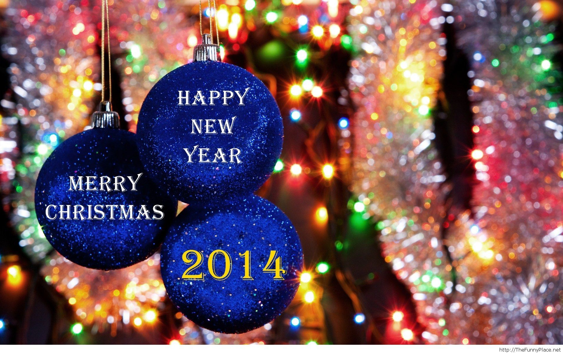 merry christmas and happy new year 2014 hd wallpaper
