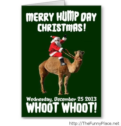 Merry christmas hump day