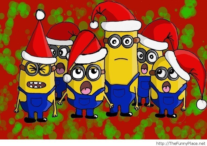 Minions wallpaper Christmas