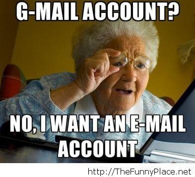 My grandma at pc