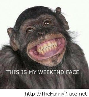 My weekend face