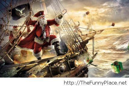 Pirate Santa image