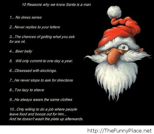 Reasons that show us Santa is a man