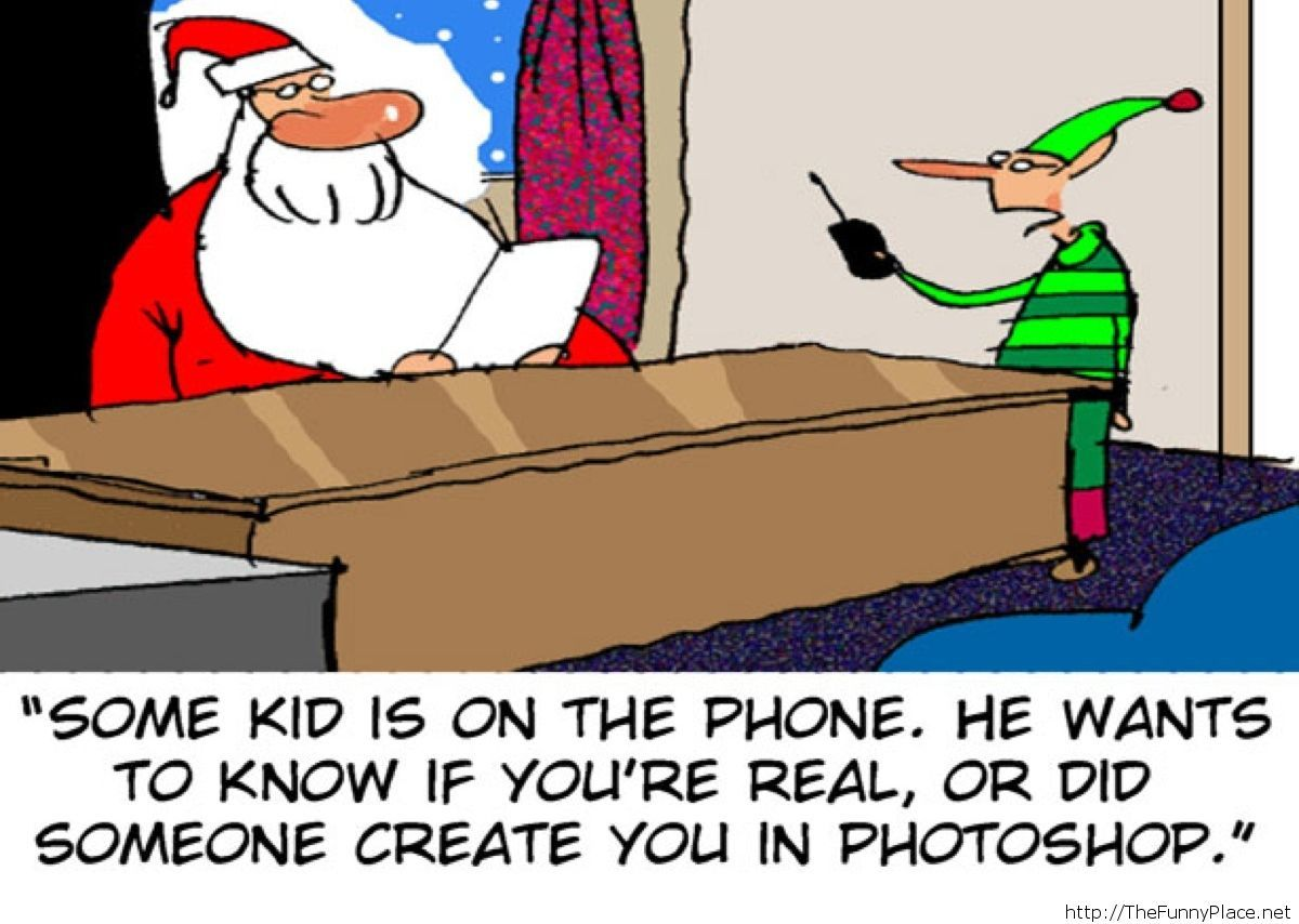 Santa Claus is created in photoshop