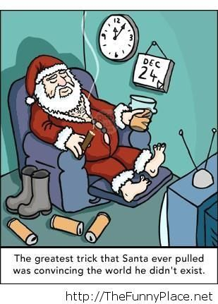 Santa exist cartoon