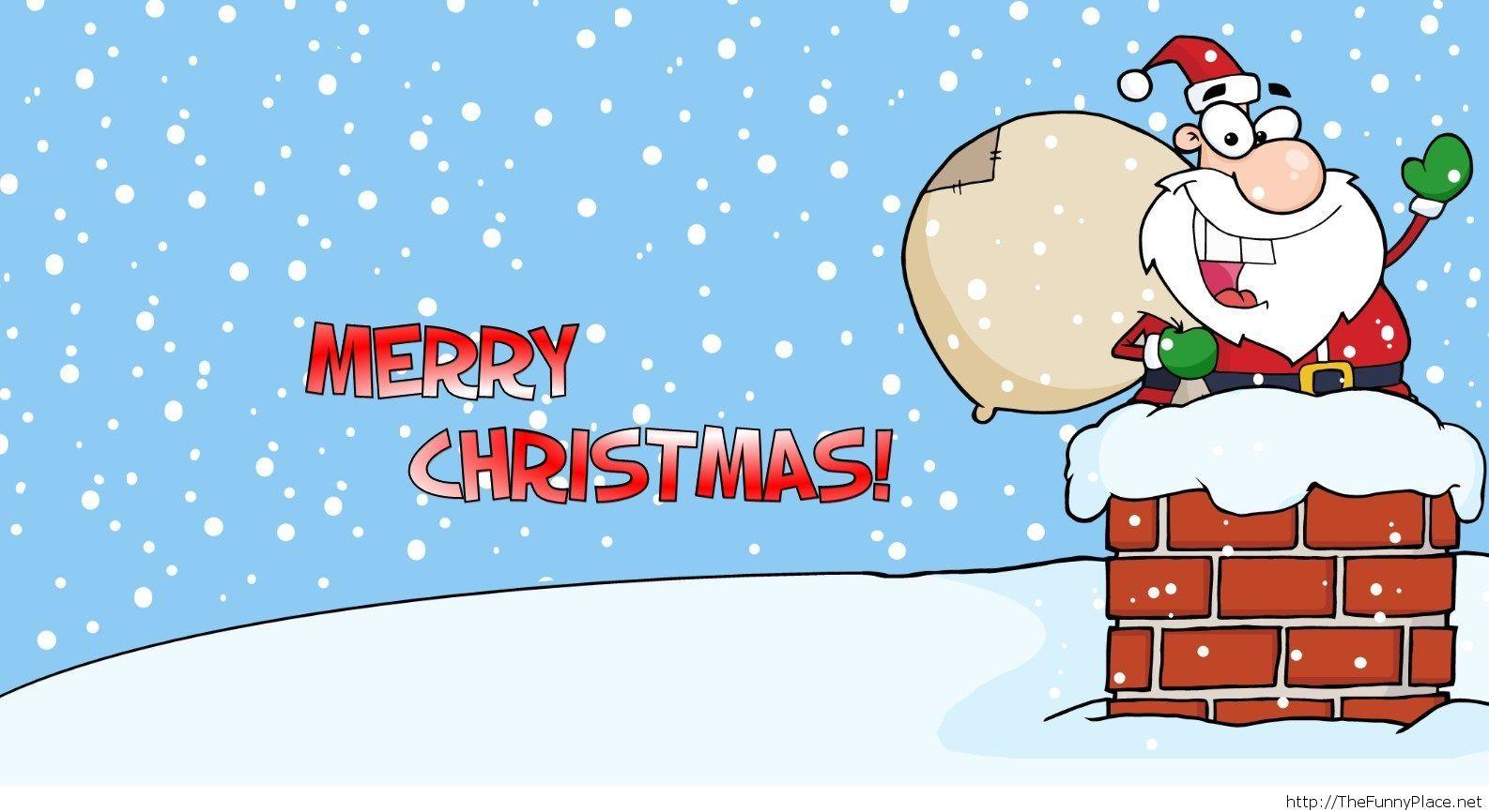 Santa funny wallpaper HD free