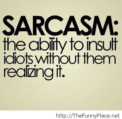 Sarcasm 2014 quote