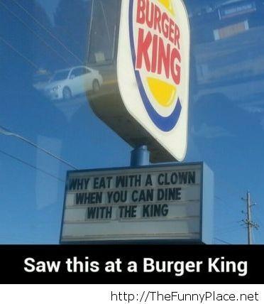 Saw this today at burger king