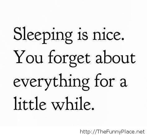 Sleeping funny saying 2014