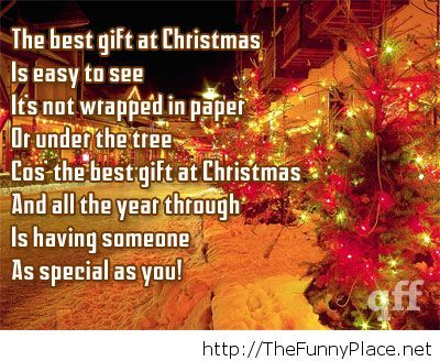 The best gift at Christmas