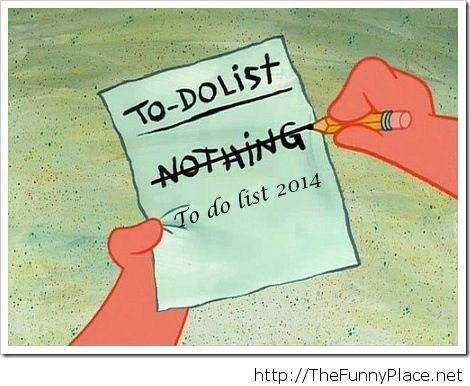 To do list 2014