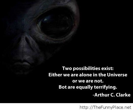 Universe quote with two possibilities