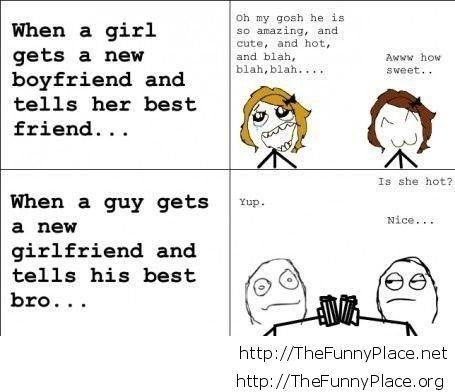When a girl gets a new boyfriend