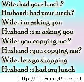 Wife and husband joke