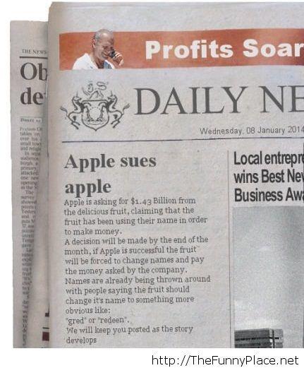 Apple strikes again