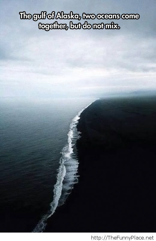 Awesome picture of two oceans