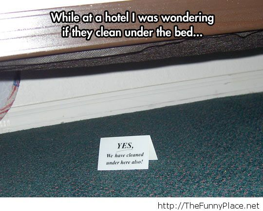 Ever wondered if they cleaned under your bed at the hotel