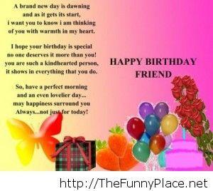Happy birthday friend quote