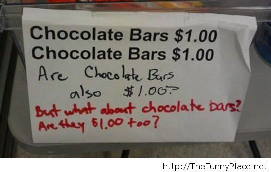 I want to know how much a chocolate bar is...