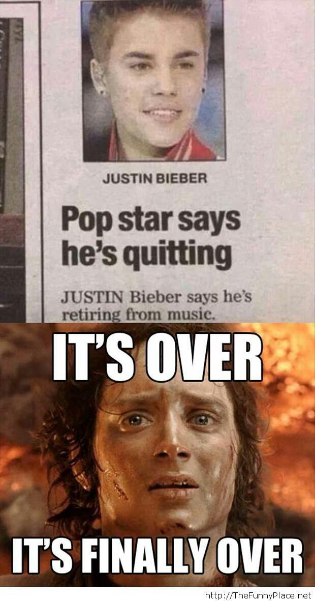 It is finally over meme