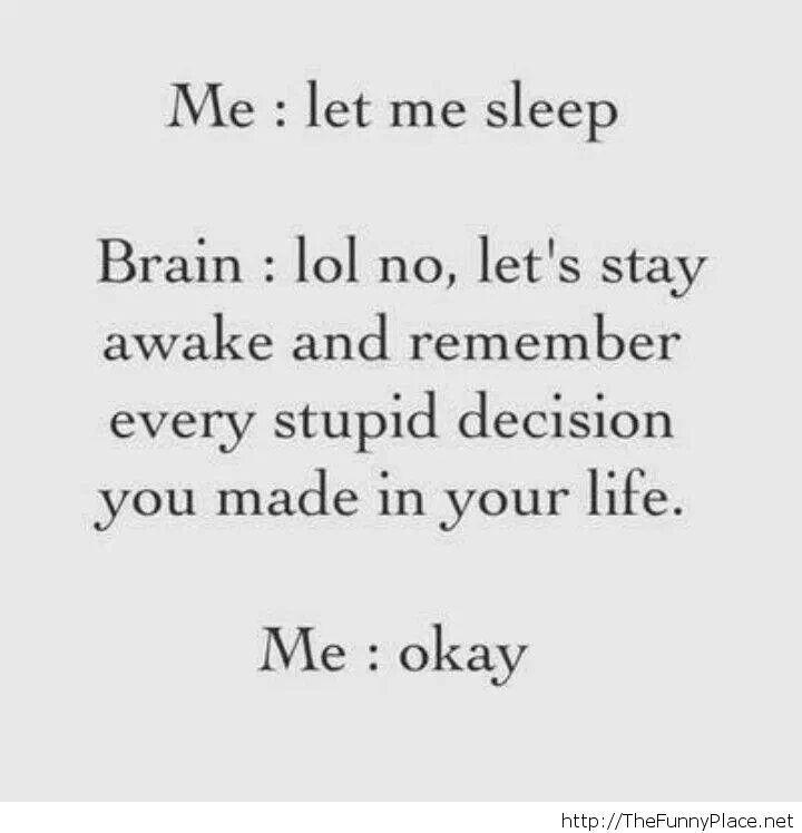 Let me sleep already!