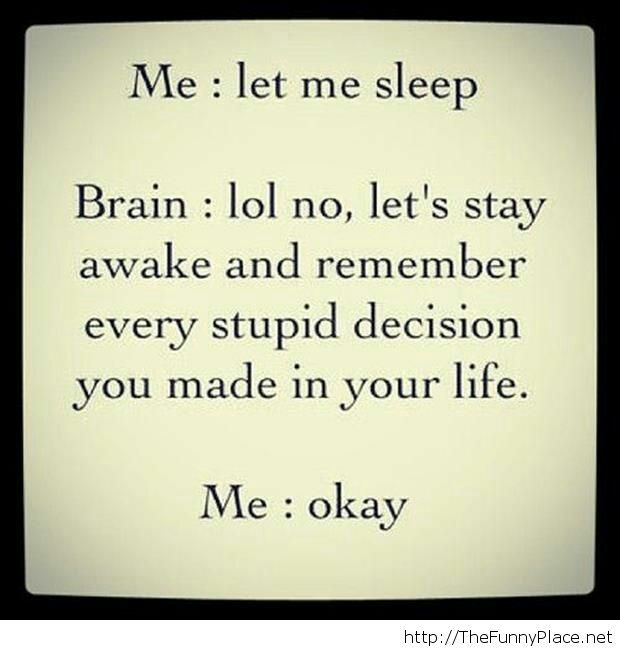 Let me sleep please