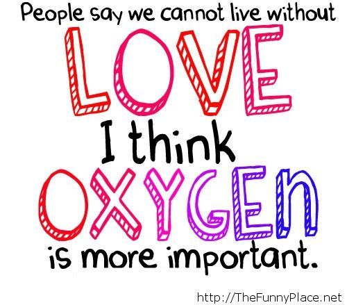 Love is very important funny quote