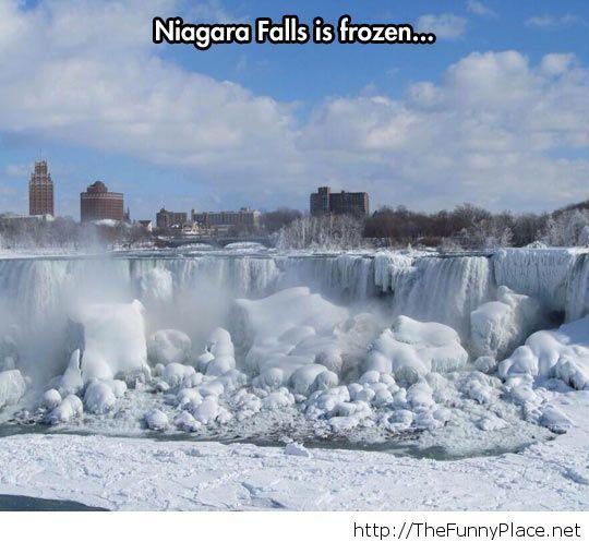 Niagara is frozen....