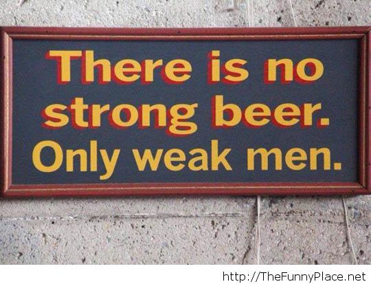Overly manly sign